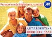 Alarmas monitoreada en campana 0800-345-1554 / 0$ instalación !!!  adt alarmas