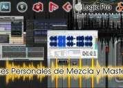 Clases personales para home estudio de grabacion mezcla y masterizacion