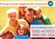 Adt - alarmas para casas en chaco 0362-4670315 0$ instalación !!!