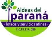Aldeas del paraná - inmobiliaria en paraná - entre ríos - argentina