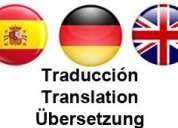 Traductor alemán español inglés / Übersetzer - translator