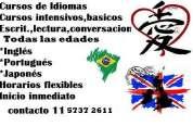 Portugués, japonés, inglés y español para extranjeros