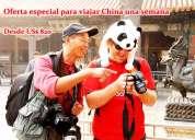 Oferta especial para viajar china una semana
