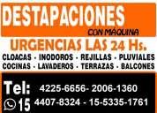 Destapaciones con maquinas zona sur 42256656 -15-4407-8324