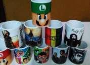 Tazas de cerámica sublimada, personalizadas tenes motivos para elegir
