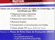 Aprende ingles online con un profesor nativo de cambridge
