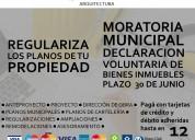 Planos para regularizaciÓn de propiedades - declaraciÓn voluntaria de bienes -! moratoria municipa