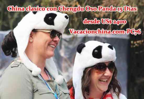 China clasico con Chengdu Oso Panda 15 Dias