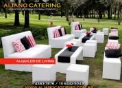 Servicio de alquileres de living para eventos 1564425043 en capital zona norte zona sur zona oeste