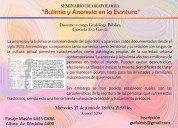 Seminario de grafología - bulimia y anorexia en la escritura