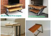 Vintage industrial: muebles en hierro y madera.