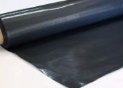 Rollo polietileno negro cobertor 2x50mts espesor 200 micrones