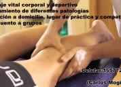 Masaje vital corporal y deportivo