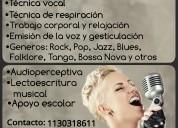 Clases de canto, guitarra y piano