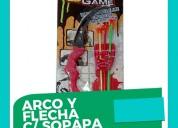 Arco y flecha de juguete c/sopapa   x72u