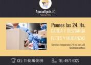 Mudanzas-fletes-peones y operarias 24hs. whatsapp 1166760699