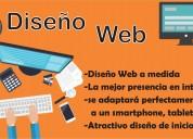 Diseño de paginas webs, hosting y publicidad online.
