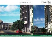 Monoambiente al frente en venta en rosario: francia 735