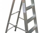 Escalera aluminio tijera reforzada 6 escalones altura 1.80 mts