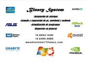 Servicio de pc binary system