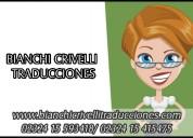 Traducciones bianchi crivelli. servicios de interpretación y traducción en buenos aires.