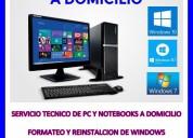 Servicio tecnico de pc y notebooks a domicilio en palermo