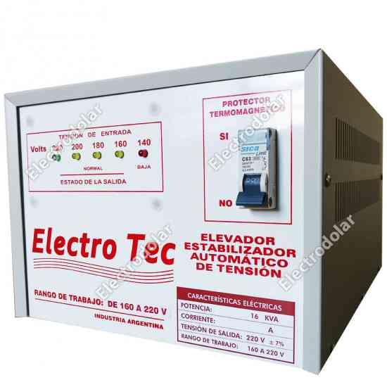 Estabilizadores y elevadores de tension dolar electrotec