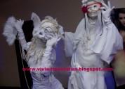 Artistas girlcupcake estatuas vivientes para eventos