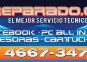 Reparacion de notebooks,netbooks y all in one en bella vista,jose.c.paz ,san miguel y moreno.