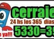 Cerrajerai ituzaingo 24 hs 5330-3000