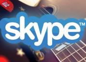 Clases de guitarra a distancia por skype o videollamada