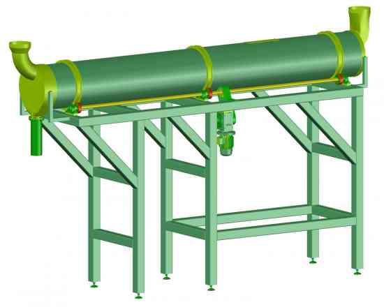 Fabrique su línea de secado con horno rotativo con silo alimentador