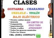 Clases de guitarra, violin,ukelele y charango