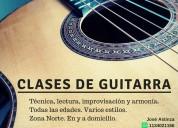 Clases de guitarra en san isidro, beccar, martinez, boulogne