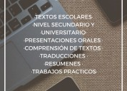 Traductora ingles trabajos practicos devoto secundario universidad traducciones