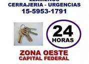 Cerrajeria las 24 hs en caseros 15-59531791