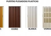 Puertas plegadizas plasticas varios colores envios