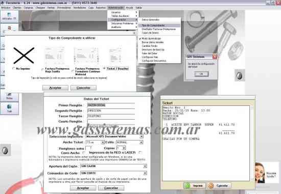 Programa ))) Ferretería PLUS ((( garantía en software - GDS Sistemas