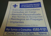 Consultorio odontologico ,dental privado en paternal