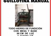 Vendo guillotina manual
