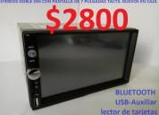 Excelente stereos nuevos pantalla 7 pulgadas bluetooth usb doble din