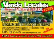 Funes. locales centro, sin gastos, dueño financia