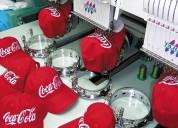 Bordados computarizados estampados en serigrafía sublimación remeras y gorras