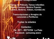 Talleres - clases personalizadas - piano teclados organo