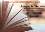 Clases particulares de lengua y literatura zona caba
