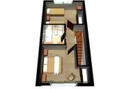 2 dormitorio tipo triplex, con patio y cochera