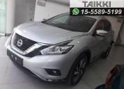 Nissan murano exclusive cvt 0km, entrega inmediata.