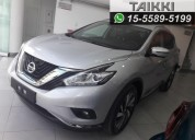 Nissan murano exclusive cvt 0km, entrega inmediata