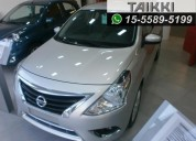 Nissan versa advance mt 0km, entrega inmediata