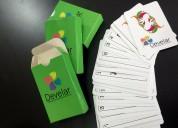 Mazo de cartas con tu logo